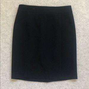 Ann Taylor loft polyester black work skirt